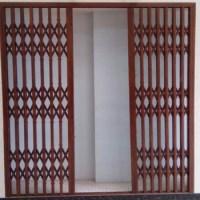 Aluminum Burglar Proof Grill Retractable Design For Door ...