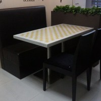 Malaysian 2017 Modern Solid Surface Dining Room Table For