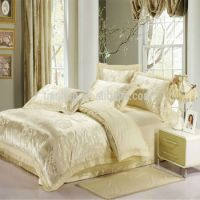Gorgeous Cream Colour Silk Jacquard Bedding Sets Bedspread ...