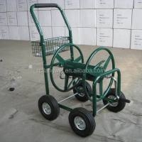Heavy Duty Outdoor 4 Wheel Metal Garden Water Hose Reel ...