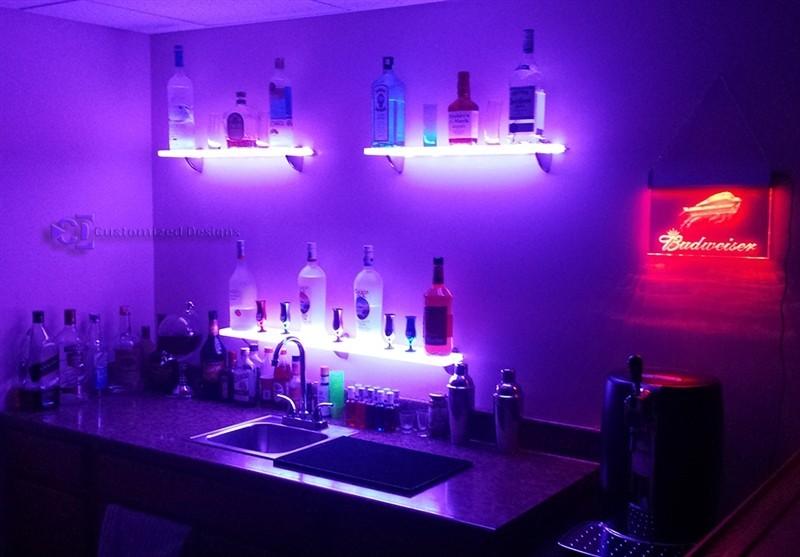 Solo Led Lighted Floating Bar Wall Shelves Buy Led