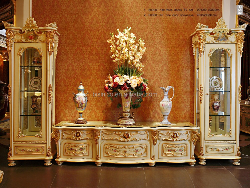 Bases Para Mesas De Vidrio Comedor French Rococo Style Goldleaf Single Door Display Cabinet