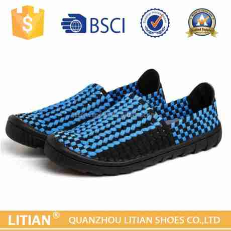 Source 2016 New design handmade woven elastic citi trends shoes for men