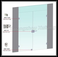 Frameless Commercial Double Glass Doors Double Swing Door ...