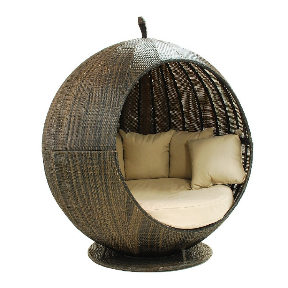 Salon De Jardin Outdoor Round Rattan Cosy Outdoor Daybed With Canopy - Buy Round