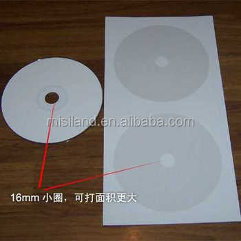 High Glossy Paper Cd Label With Adhesive Sticker 135gsm (135x270mm