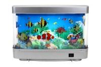 Plastic Aquariums Fish Tank 3d Lifelike Moving Fish Lamp ...