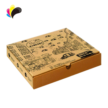 10\u0027 Take Away Brown Kraft Paper Custom Pizza Box,Corrugated Box For