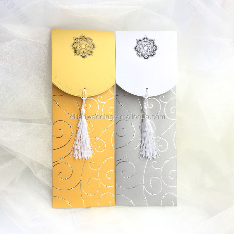 Beautiful Tassel Decorated Long Size Cards Wedding,Ideal Products