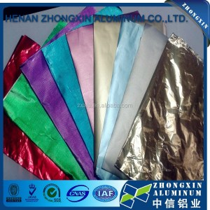 Colorful aluminum foil for packing sandwich/cheese