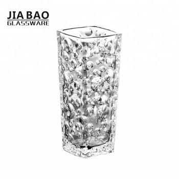 Unique Bubble Design Square Glass Vases Wedding Centerpiece Crystal