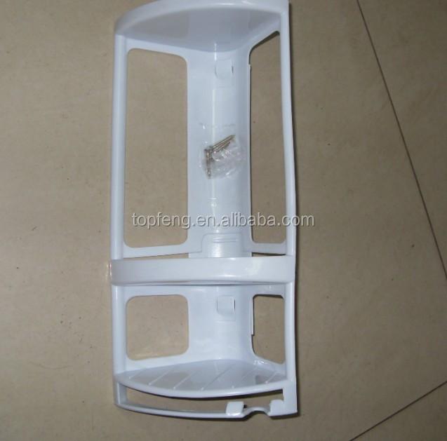 Corner Mounted Shower Caddy,Plastic Bathroom Shelf