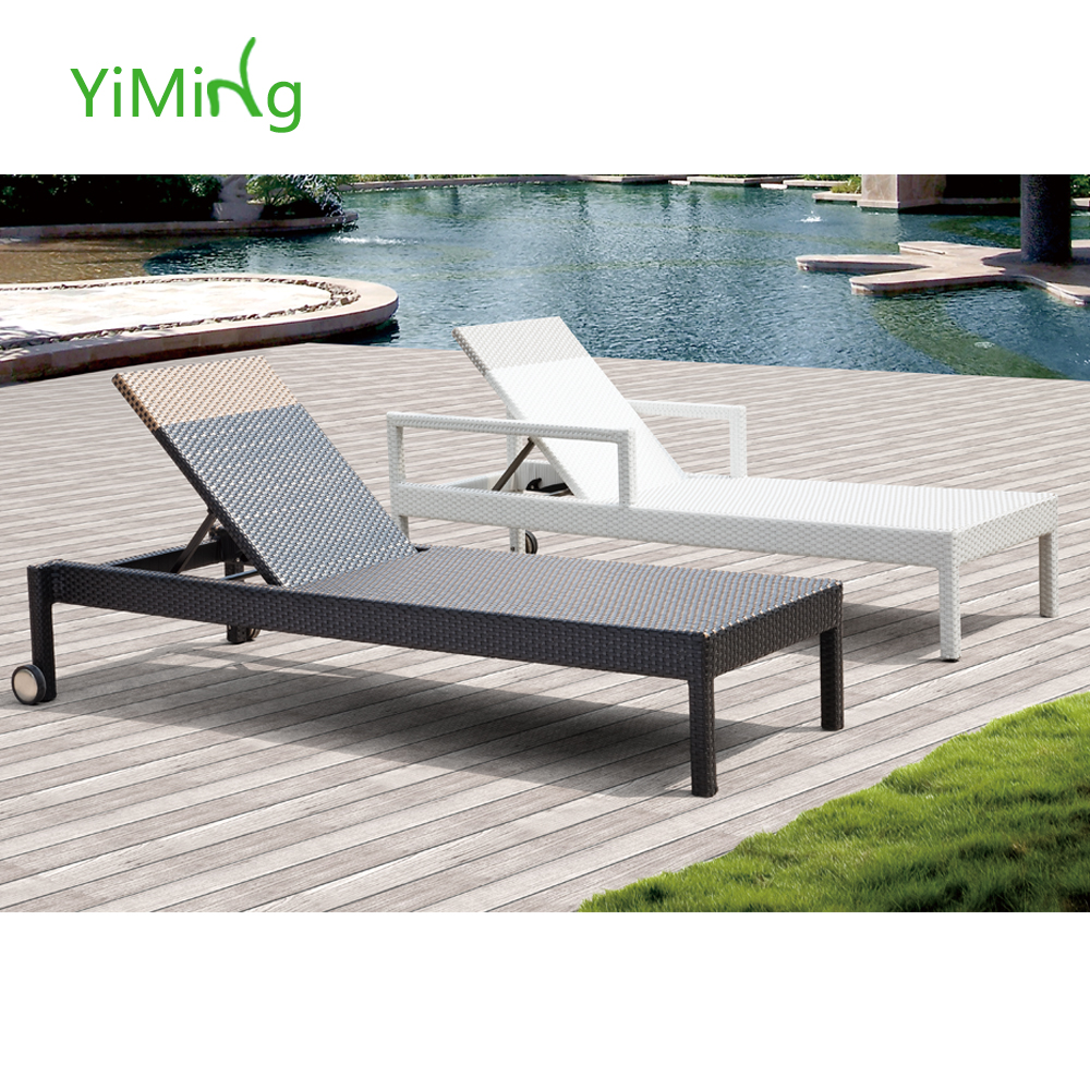 White Sun Lounge Morocco Black And White Modern Beach Hotel Outdoor Recliner Chaise Sun Lounge Rattan Furniture Buy Recliner Chaise Sun Lounge Rattan