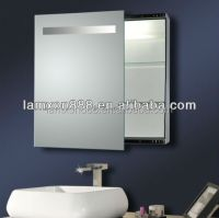 Electric Bathroom Mirror Cabinet With Light,Sliding Mirror ...