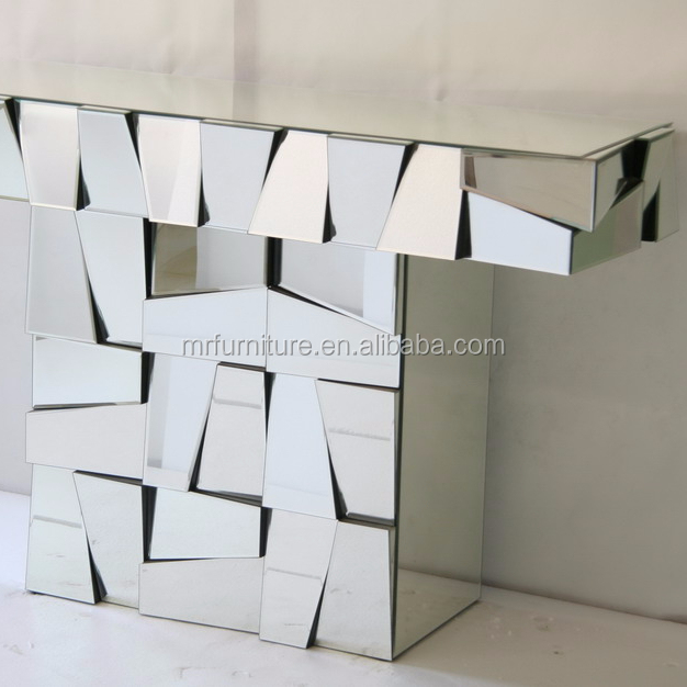 Hot Selling Mirrored Angel Facet Design Dressing Table With Wall
