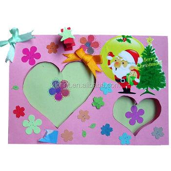 Kids Merry Christmas Greeting Card,Handmade Teachers Day Greeting
