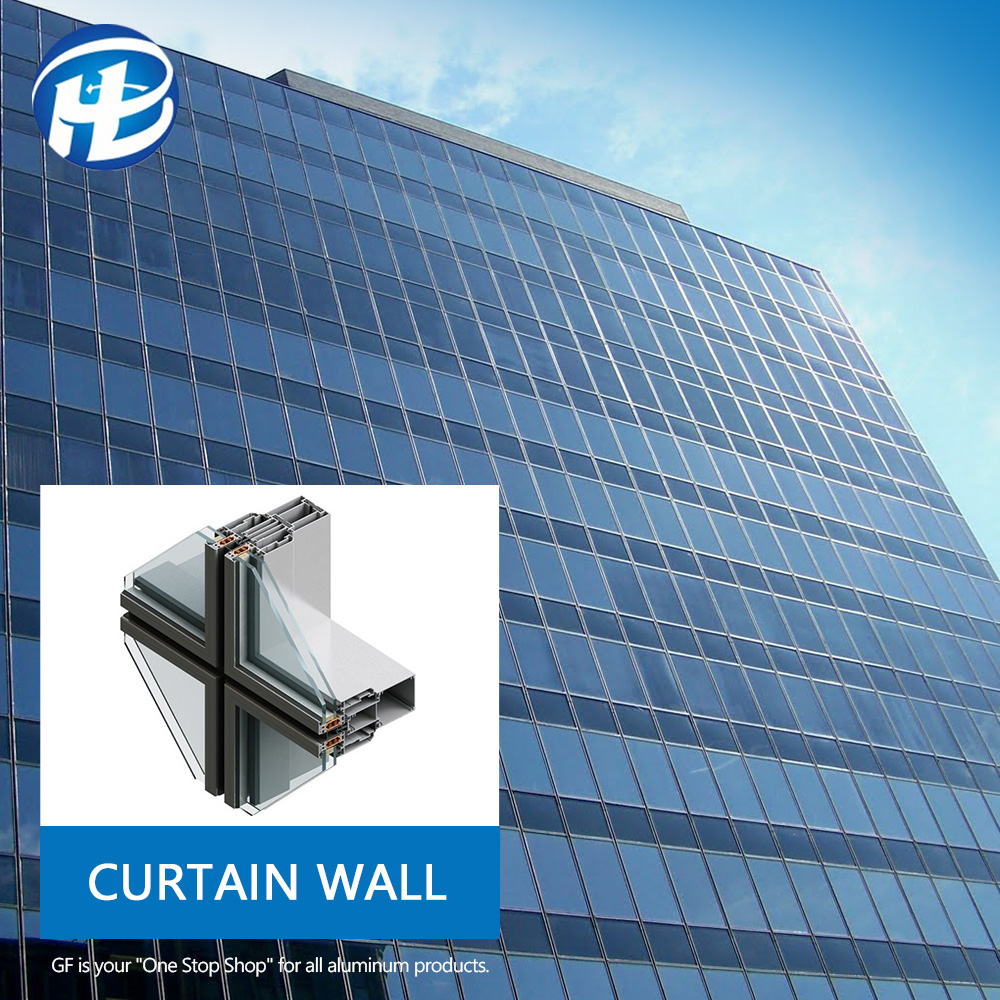 Glass Curtain Wall Manufacturer Manufacturer Cost Per Square Metre Price Aluminum Curtain Wall For Commercial And Residential Building Curtain Walls Glass Size Buy Aluminum Curtain