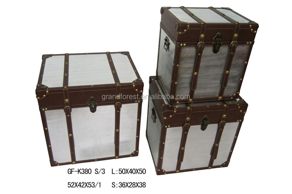 Wooden Storage Trunk With Metal Lock Buy Storage Trunk