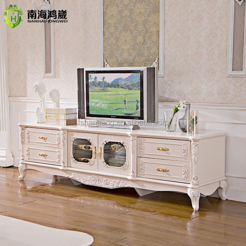 Living Room Chair India Classical European Style Ivory White Wooden Tv Stand - Buy
