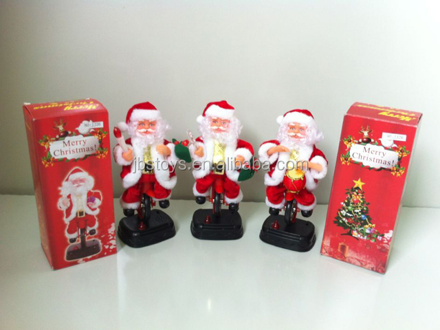 Bicycle Farther Christmas Action Figure,Musical Santa Claus For - christmas toy sales