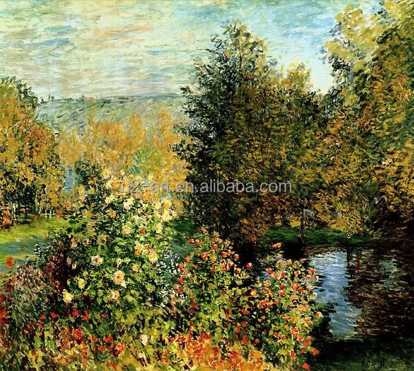 Claude Monet Mountain And River Paintings For Living Room - Buy