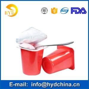 Heat sealing aluminum foil lids for yogurt plastic cup easy peel lids aluminium lids