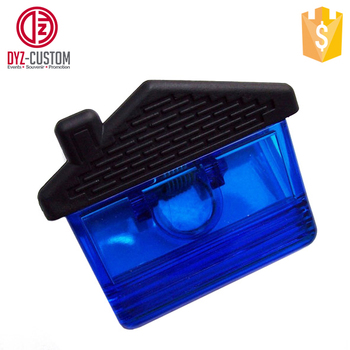 House Shape Plastic Fridge Magnet Paper Clip Magnetic Memo Clip