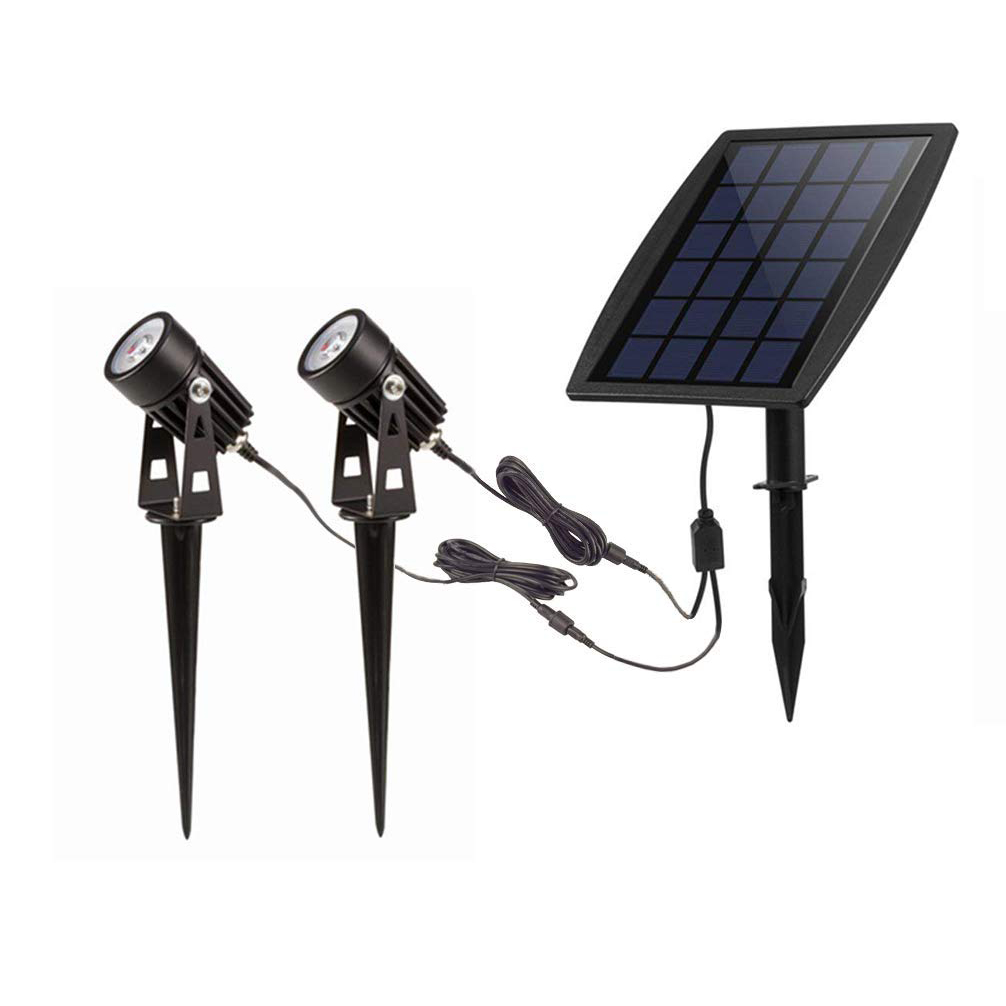 Tuinspot Solar Led Solar Powered Spot Lichten Outdoor Laagspanning Tuin Spotlights Security Landschap Verlichting Voor Buiten Yard Gazon Dek