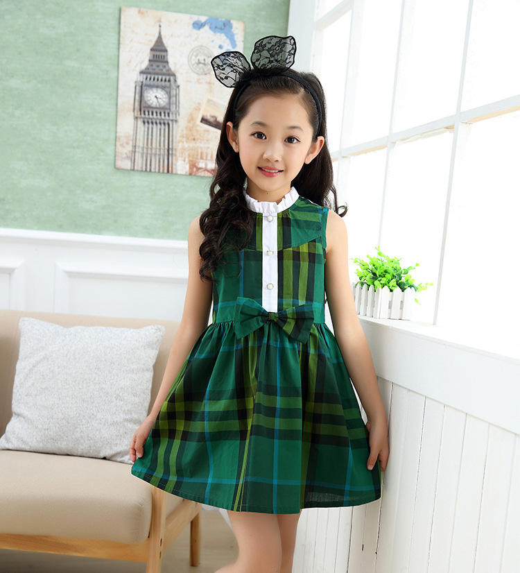 Wholesale Suppliers Dress New Models Girls Cotton Sleeveless Dresses Kids Clothes