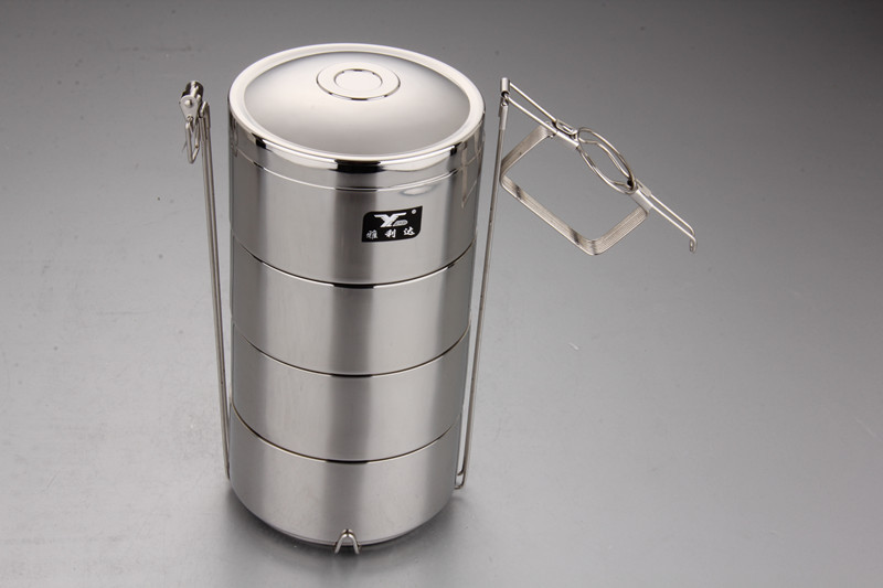 Stainless Steel Food Carrier Indian Tiffin Lunch Box 14 Cm