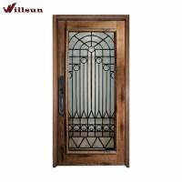 Cast Iron Wood Single Doors Iron Grill Design Flush ...