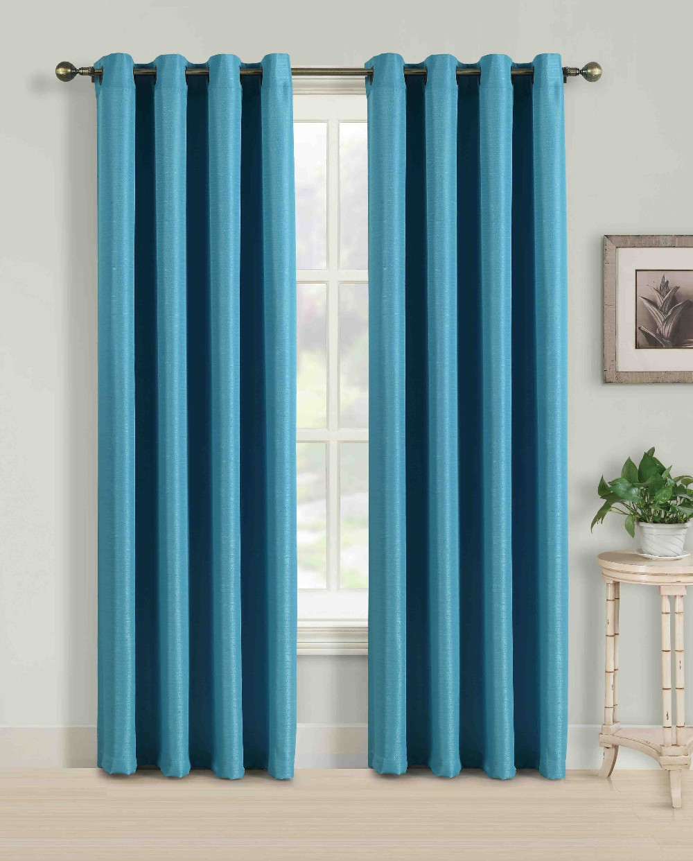 Faux Silk Curtains Solid Color Faux Silk Curtains With Matching Color Curtain Clip Buy Silk Curtains Product On Alibaba