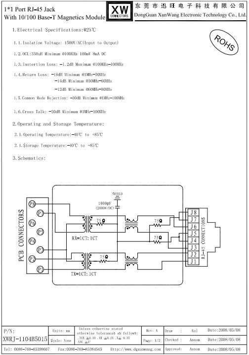 Cat5 Cat6 Rj45 Tht 100base-t Rj9 Rj45 Modular Jack - Buy Modular