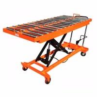 Hydraulic Manual Roller Top Scissor Lift Table - Buy ...