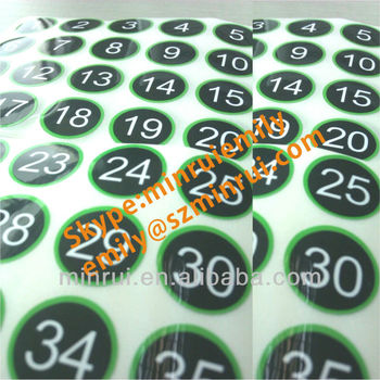 Custom Gloss Number Sticker Labels,Round Numbered Stickers,Numbered