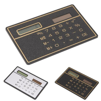 8 Digits Ultra Thin Slim Mini Credit Card Design Solar Power Pocket