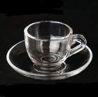 Haonai 2016 Cheap Glass Coffee Cup And Saucer Set - Buy ...