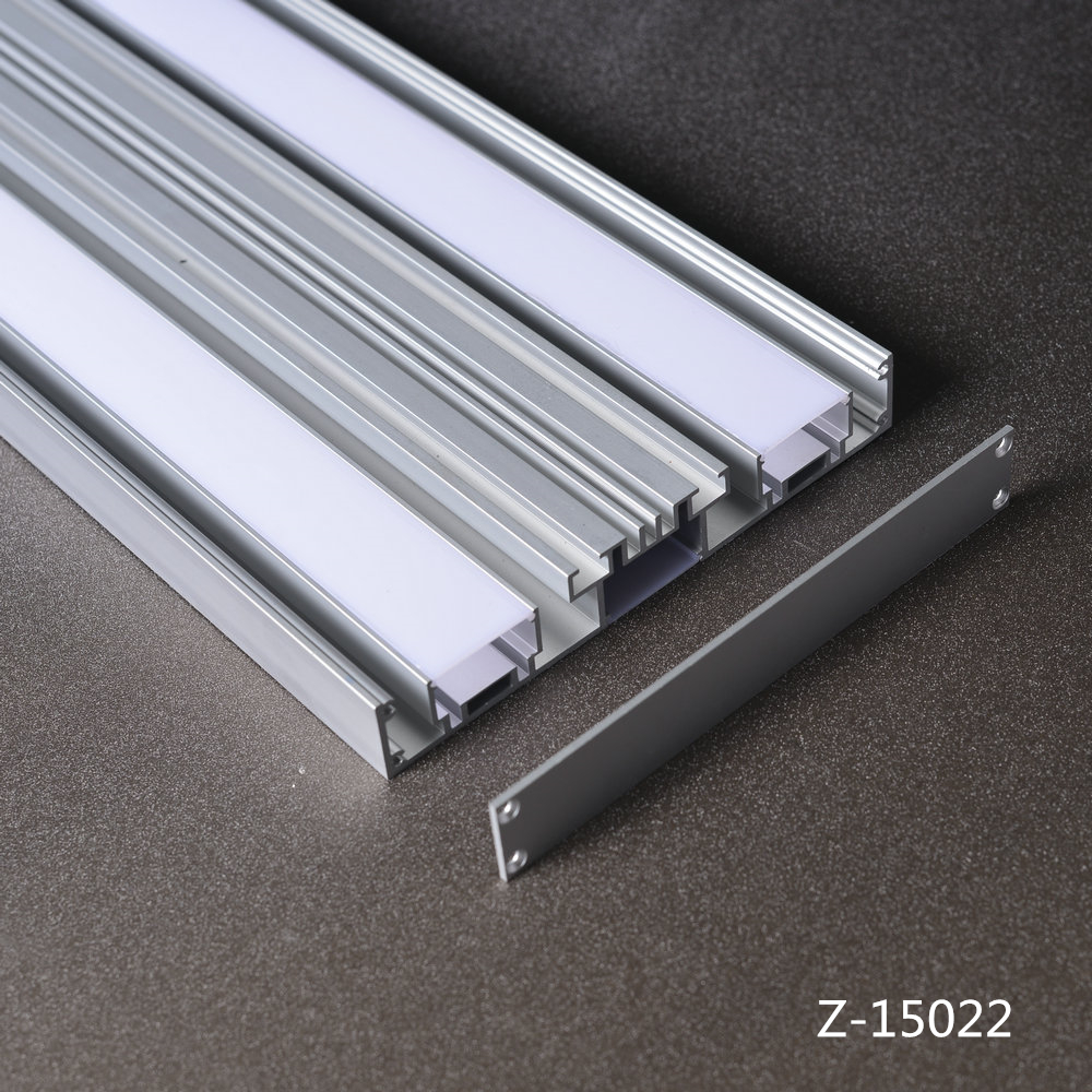 Fluorescent Light Diffuser Panels 150mm Wide Led Strip Light Diffuser Cover Led Panel Aluminium Profile Linear Mounted Buy Aluminum Profile For Led Aluminium Led Lighting