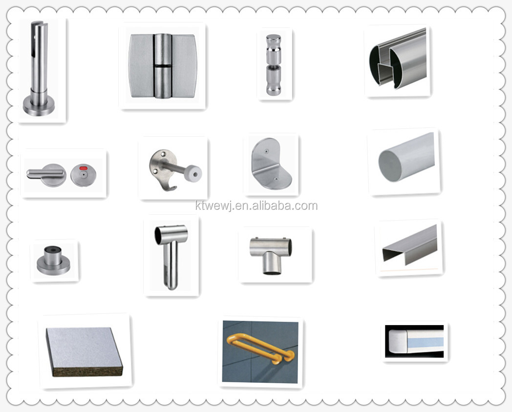 Douchecabine Accessoires Zinc Alloy Toilet Partition Wall Material Buy Partition