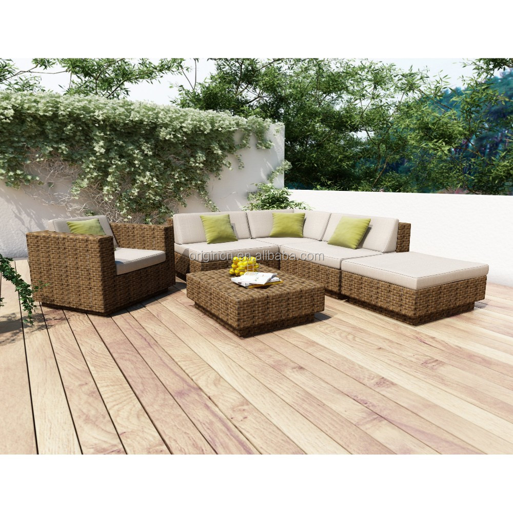 Sofa De Pallet Quintal California Country Style 5 Seater Sumptuous Outdoor Modular Synthetic Rattan Sofa Set Backyard Outside Furniture Buy Outside Furniture 5 Seater Sofa