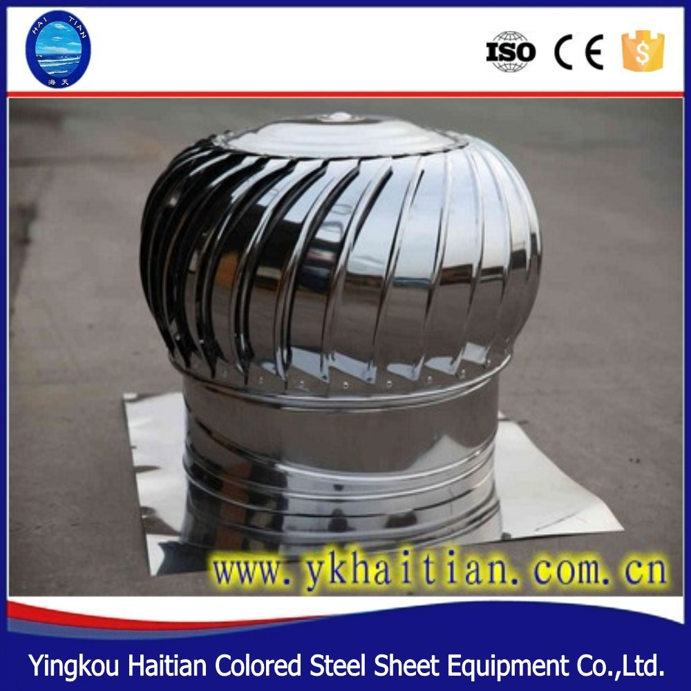 Exhaust Fan Roof Vent A Turbine Exhaust Fan Roof Ventilator Installed On The Roof Ventilator View A Turbine Exhaust Fan Haitian Product Details From Yingkou Haitian