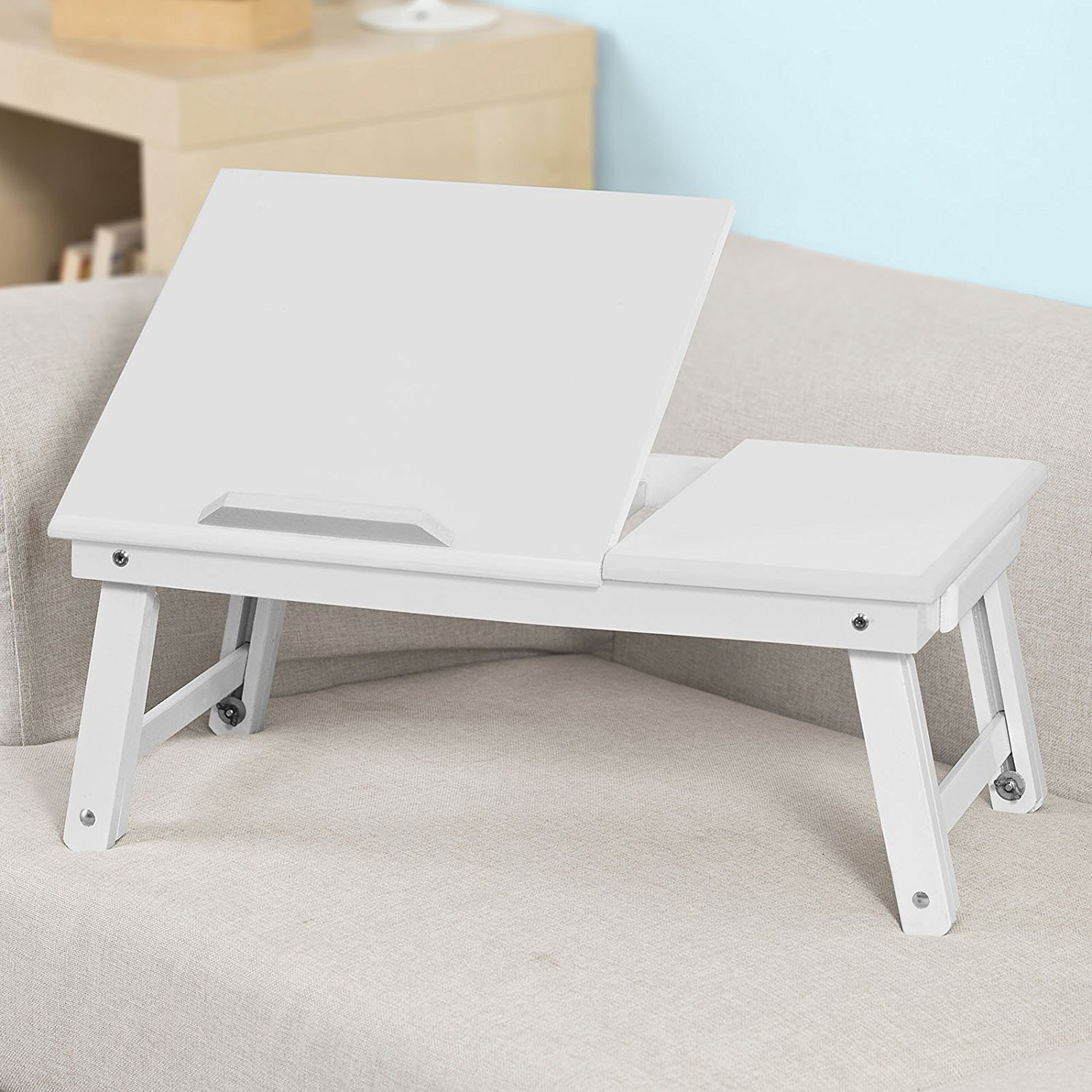 Sobuy Shop Sobuy Wood Foldable Notebook Laptop Table Folding Food Bed Lap Top Tray Table Desk Fbt02 W