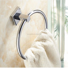 high quality brass square bathroom hardware accessories towel ring towel holder hanger