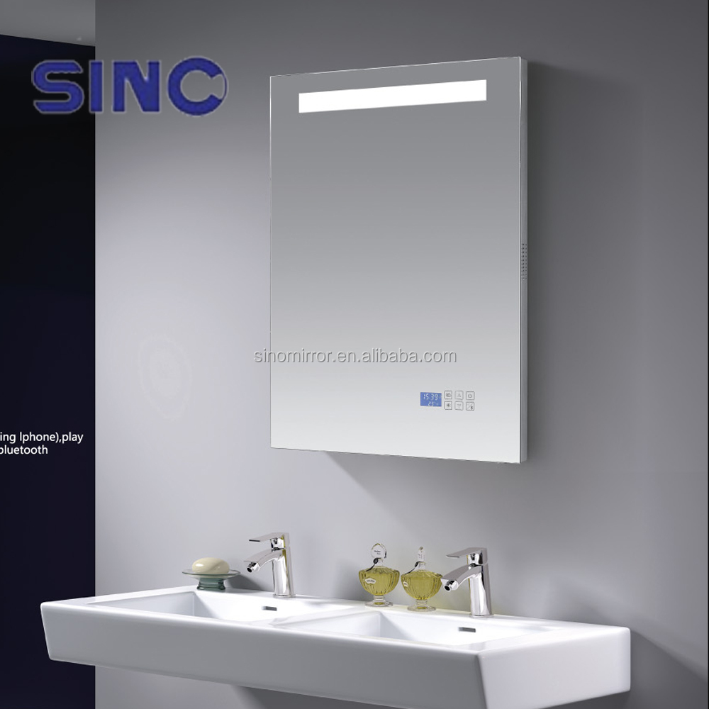Bluetooth Bathroom Mirror Youtube bathroom mirrors with radio and light