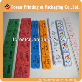 Perforated Arcade Tickets Raffle Ticket Printing - Buy Arcade Ticket