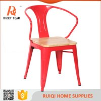 Modern Colorful Iron Chair/outdoor Iron Wood Folding Chair ...