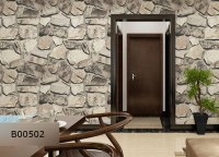 3d Effect Stone Rock Wallpaper Vinyl Rolling Rock Textured