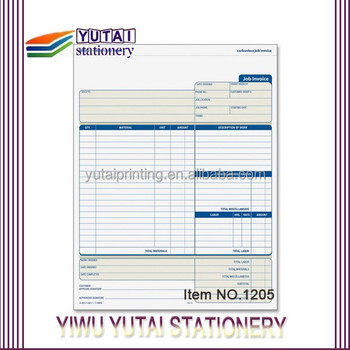 Vista Print Invoice Book,Carbonless Form Invoice Triplicate Books - print invoice