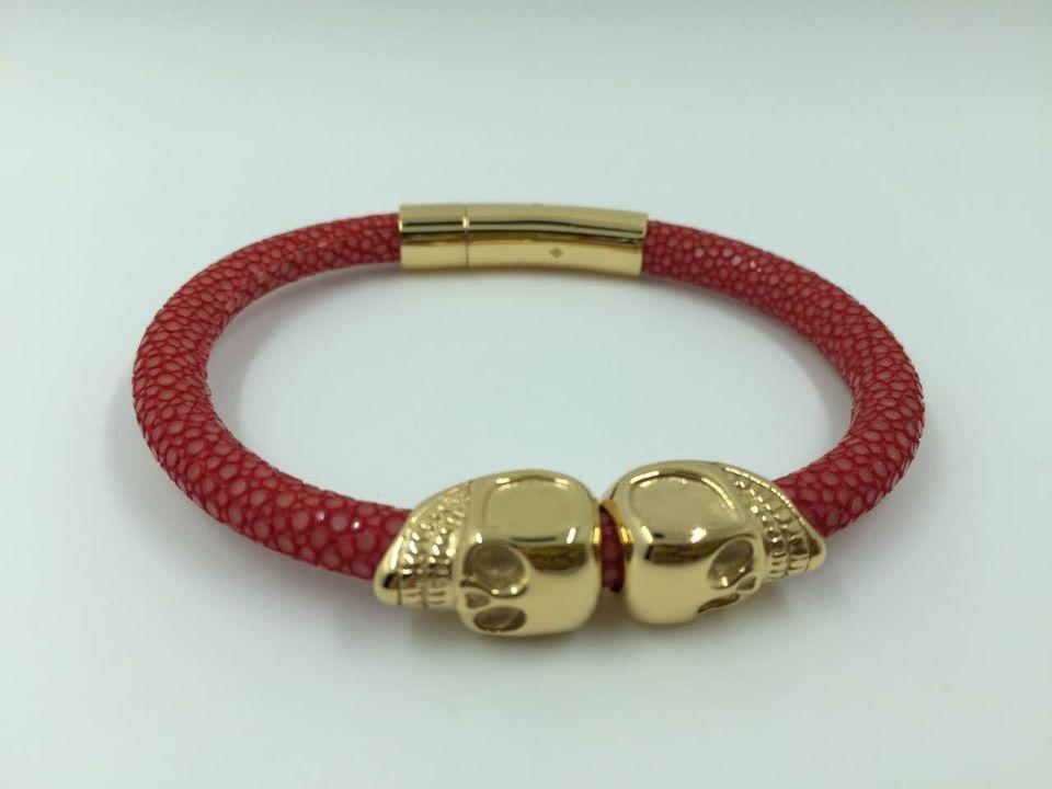 Dubai 18k Gold North American Bracelet Skull Bracelet Red