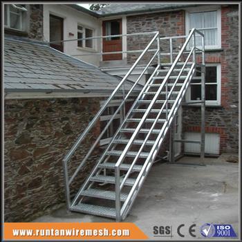 Galvanized Floor Grating Industrial Metal Stair Step